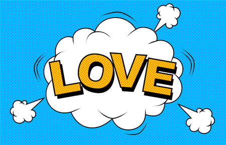I love you design on blue background