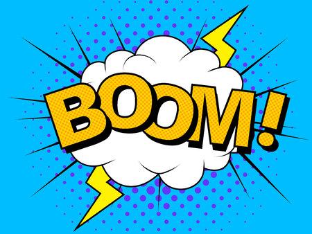 Comics Boom Comic Vector cartoon illustration explosions 版權商用圖片 - 115275156