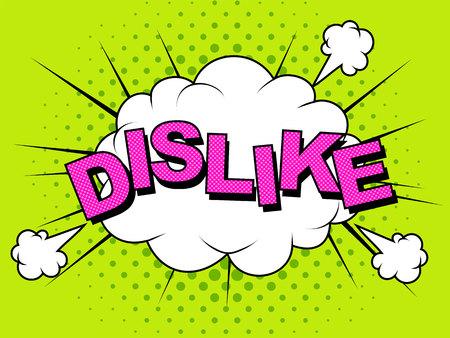Dislike. Thumbs down, dislike icons for social network.