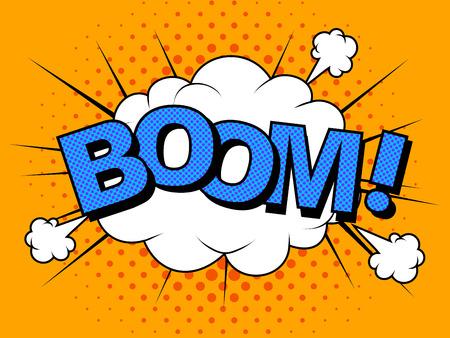 Comics Boom Comic Vector cartoon illustration explosions