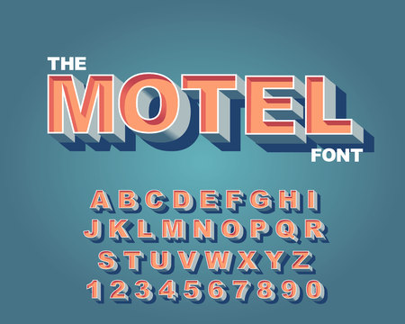3d Bold retro font. Vintage Alphabet vector 80 s, 90 s Old style graphic poster set. Eighties style graphic template. Template easy editable for Your design. Bold modern style, vintage