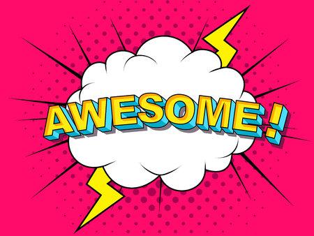 Impresionantes explosiones de ilustración de dibujos animados de Vector cómico. Comics Boom Symbol, etiqueta adhesiva, etiqueta de oferta especial, insignia publicitaria. Bandera de la muestra. Explosión de burbujas de discurso de cómics. Nubes por explosiones. Emociones Ilustración de vector