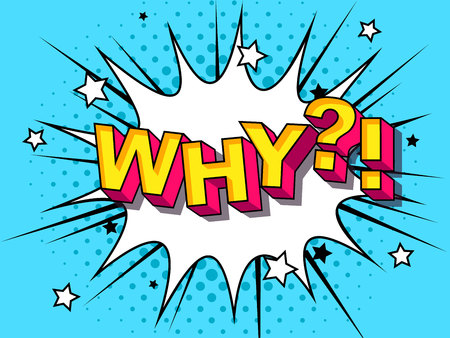 Why Comic Vector cartoon illustration explosions. Comics Boom Symbol, sticker tag, special offer label, advertising badge. Sign banner. Comics speech bubble bang. Clouds for explosions. Emotions