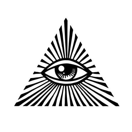 Eye of Providence. Masonic symbol. All seeing eye inside