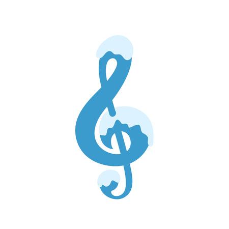 quaver: Illustration of clef isolated on white background VECTOR International Music Day Illustration