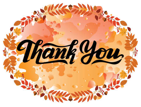 thank you lettering, vector illustrations, typography or calligraphy design,