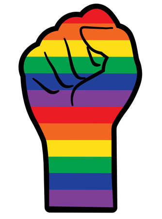 lgbt  design; calligraphy text for poster. all for love, love for all. equality hand