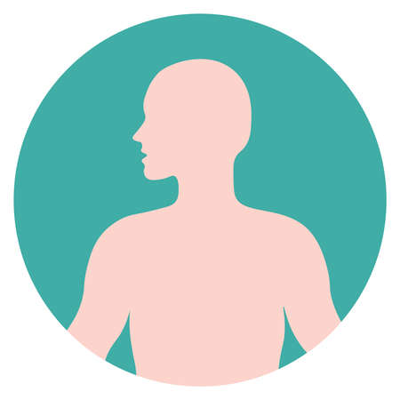 human body icon, vector flat illustration, symbols for web, apps, print.