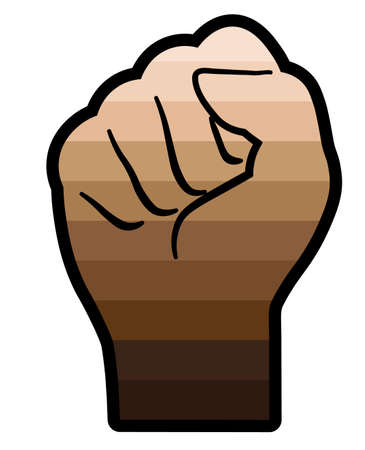 fist with gradient; icon for web or print; black lives matter; equality for everyone;
