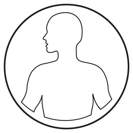 human body icon in line art style; vector illustration, can use for app, print or web.