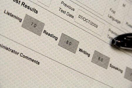 Gemarkeerd IELTS examen resultaten