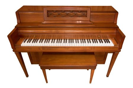 white piano: Isolated Piano