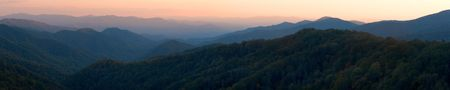 ridgeline: Smoky Mountains Sunset Panorama