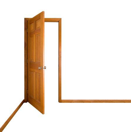 Isolated Door, Open photo