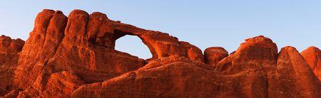 Skyline Arch - Arches National Park, Utah, USA. 版權商用圖片