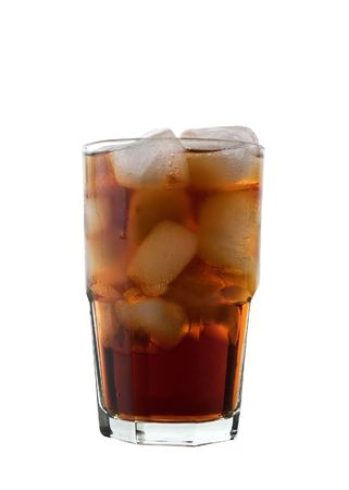 Glass of Cola and Ice, Isoalted photo