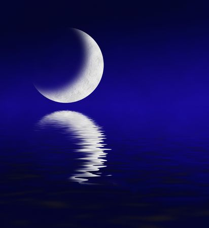 Moon Reflection  photo