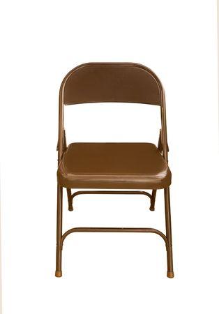 sedia vuota: Una sedia pieghevole isolato su bianco