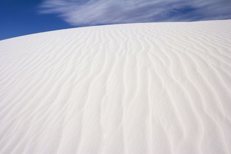 Sand Dune and Sky - White Sands National Park, USA Stock Photo - 2702338