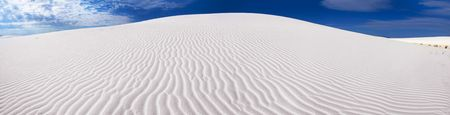 Panorama of White Sands National Park, USA Stock Photo - 2703212