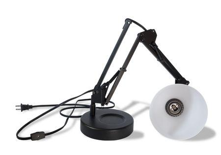 Gebroken lamp, geïsoleerde Stockfoto