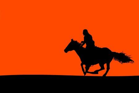 horseman: Jinete Silueta (Vector)
