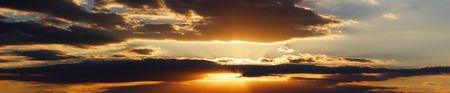 Sunset Clouds Panorama