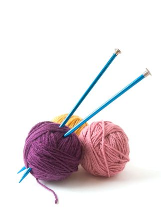 Knitting Needles and Yarn Balls