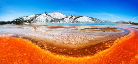 prismatic: Grand Prismatic Spring Panorama (of Midway Geyser Basin) - Yellowstone National Park
