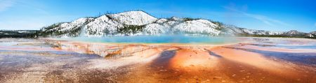 prismatic: Yellowstones Grand Prismatic Spring Panorama