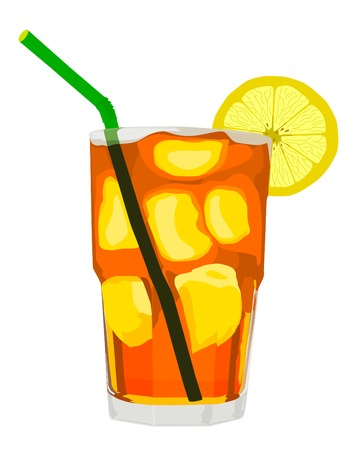 iced tea: Iced Tea (Vector)