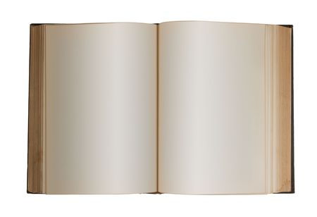 Photo of a book edited for blank pages. photo
