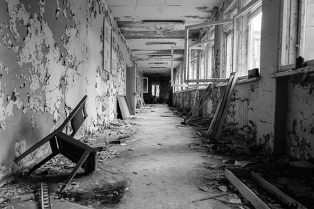 abandoned: Abandoned school in Pripyat, Ukraine Stock Photo