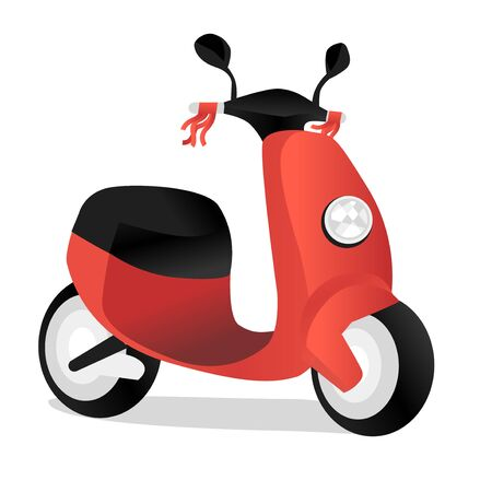 Electric scooter. Isolated Motorbike moped, motorbike brand transport. isolated vector illustration