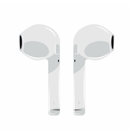 air icon Headphones Wireless Earphones garniture electronic gadget pod -vector illustration