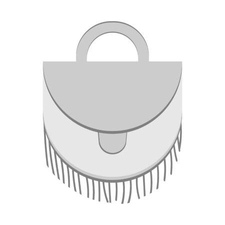 handbag mockup in base white and grey color. Modern fashion simple design satchel Vector illustration on a white background. Иллюстрация