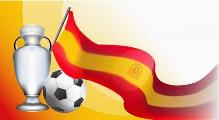 spain European football cup 2020 tournament. madrid soccer championnat. realistic background gradient vector illustration