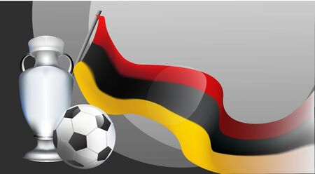 Germany Euro football cup 2020 tournament. soccer championnat. realistic background gradient vector illustration
