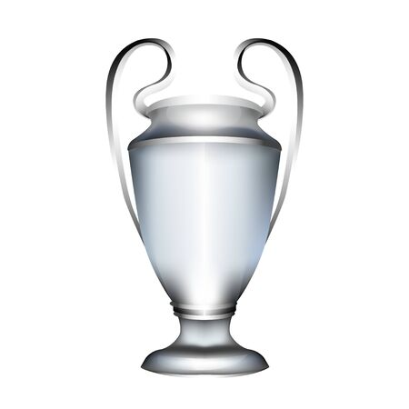 football cup. 3d silver realistic award trophy. Isolated sport game price. tennis, basketball, hockey, golf , soccer award.