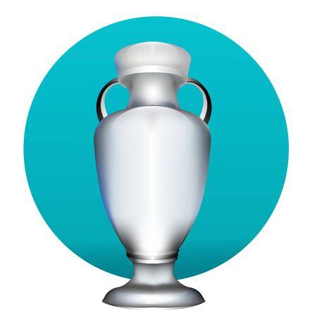 récompense sportive. tournoi de la coupe de football 2020. championnat d'europe de football. illustration vectorielle de fond réaliste dégradé Vecteurs