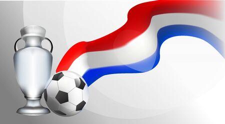 amsterdam team. European football cup 2020 tournament. soccer championnat. realistic background gradient vector illustration Vecteurs