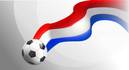 amsterdam team. football tournament. soccer championnat. background vector illustration