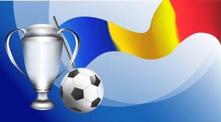 Roumanie, tournoi de coupe de football de Bucarest. championnat de football. illustration vectorielle de fond