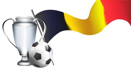 Drapeau belge. bannière de tournoi de football. Championnat de football de Bruxelles. illustration vectorielle
