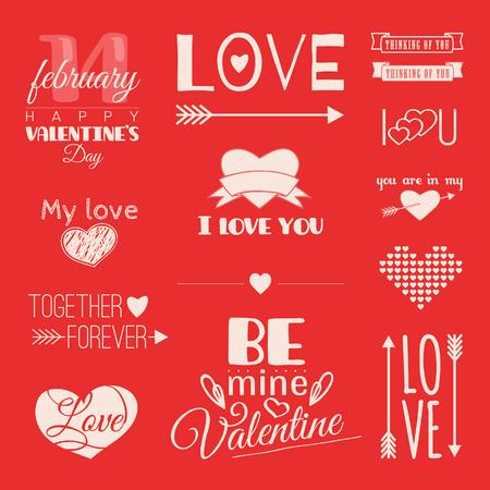 st  valentine's: St. Valentines Day. Lettering. Illustration