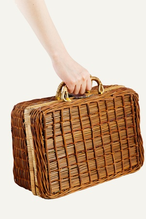 teng: Hand and Teng bags Stock Photo