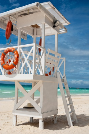 salvavidas: Playa de salvar vidas loma Foto de archivo
