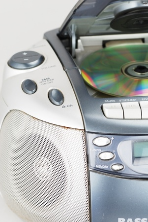 portable rom: CD Player Stock Photo