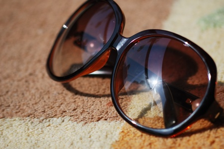 fancy aviator style sunglasses close up  photo