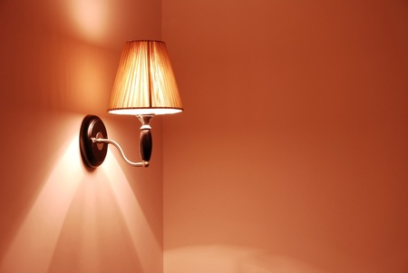 elegant wall lamp  photo